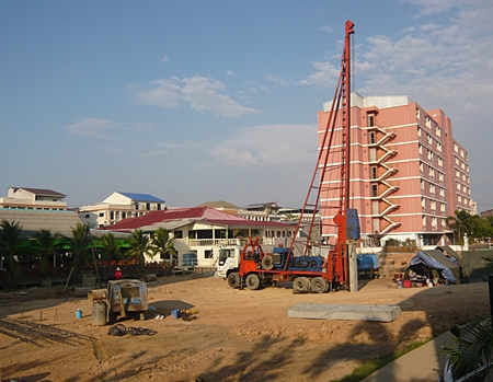 The piling work is already underway for Novana Residence by The Nova Group.