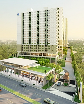 An artist's impression shows the completed Lumpini Ville Naklua project.