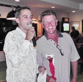 PAGS A-Flight winner Colin Greig (right).