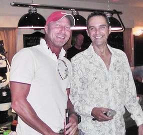 PAGS B-Flight winner Patrick Engels (left).