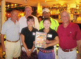Tuesday's winners pose with the staff at The Relax Bar.