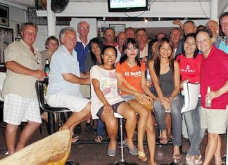 Jomtien golfers pose for a group photo on their Kanchanaburi road trip, Sunday, Feb. 12.