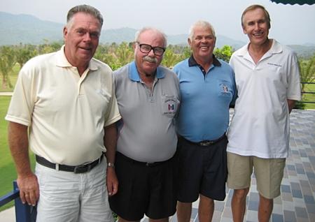 (L-R) Kjeld Ravin, The Admiral, Elias Magnusson and Doug Maiko.