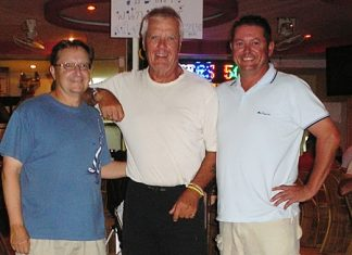 Jim Connelly, Mark Potten and Harry Vincenzi were the second division top three at Greenwood on Monday.