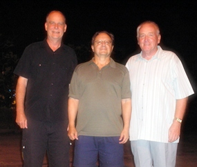 On the podium at Pattaya C.C. - Jack Watkins, Harry Vincenzi and Keith Hector.