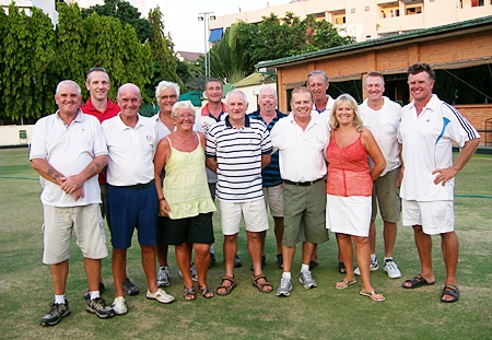 The Bunker Boys (and girls) Golf Society team.