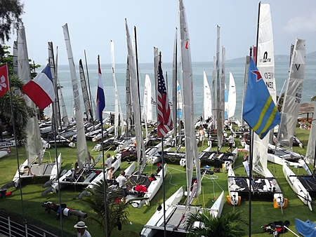 Royal Varuna Yacht Club – a hive of activity on race day.