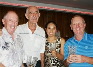 Captain's Day winners (from left): Pat Regan, Jimmy Day (the Captain), Sim Davis and Bob Newell.