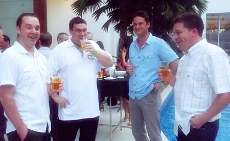Kieth Harrison, Matthew Raspin, Dan Cheeseman and Toby Scott are certainly enjoying themselves.