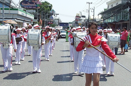 A parade wouldn't be a parade without a marching band, in this case perfectly supplied by School No. 3.
