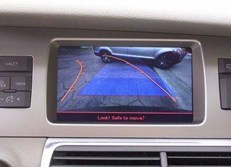 Rear-view camera screen.