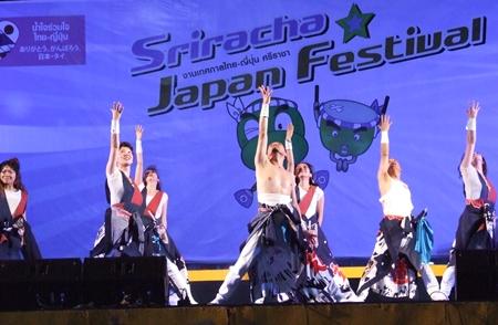 Dancers perform at the Thai-Japan culture exchange festival.
