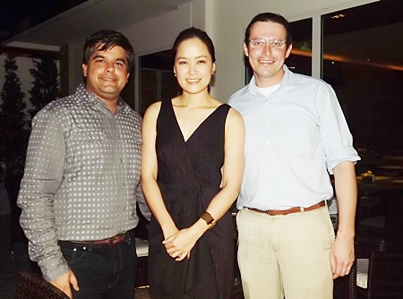 Alisa Phanthusak is the lovely rose between Tony Malhotra (left) and Michael Gunster (right)