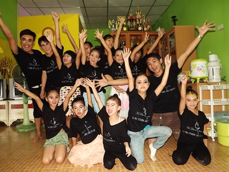 Children getting ready to rock Thailand's Got Talent 2012.