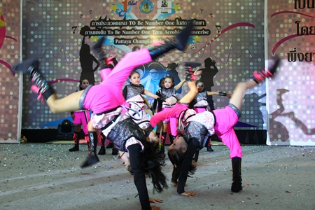 An energetic troupe performs at last year's event.