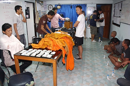 The heads of all the boys had been shaved and police recovered monks robes and alms bowls, as well as two megaphones, a donation box and 11,460 baht in cash.