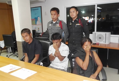 All three were charged with possession and distribution of Class 1 narcotics.