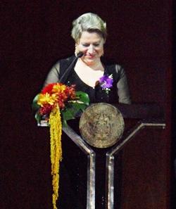 State Minister Cornelia Pieper delivers her speech.
