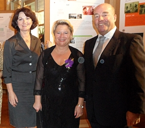 (From right) German Ambassador Rolf Schulze, State Minister Cornelia Pieper and Petronella Schulze, the wife of the German ambassador at the reception.