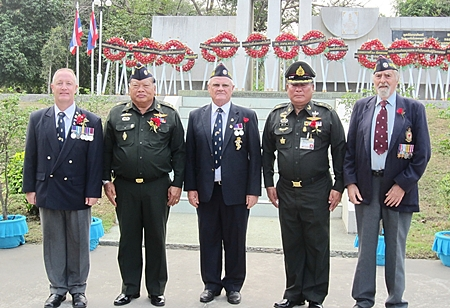 Some of our elder members at the Thai Remembrance Day.
