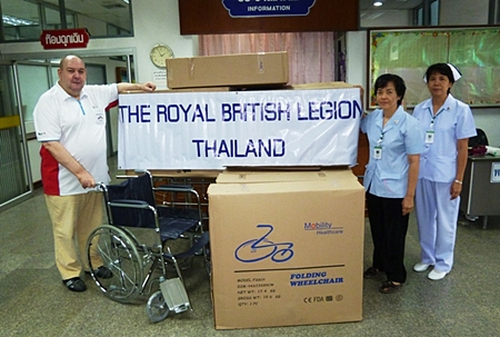 10 wheelchairs for Banglamung Hospital.