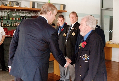HRH meets the Navy lads.