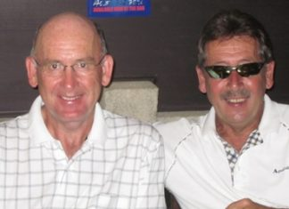 Scramble winners Peter Skinner & Bob Heath.
