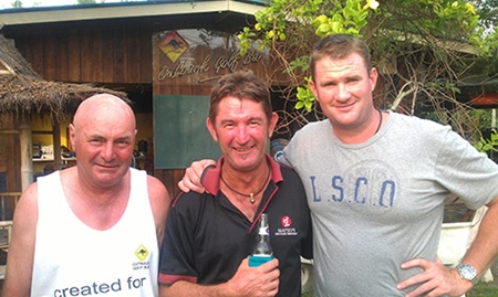 Wednesday's top three (from right): Steve Mann, Fidge Button and Rod Woodriff.