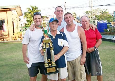 The winning team: Mike, 'Rolex', Ken, John P. and Billy.