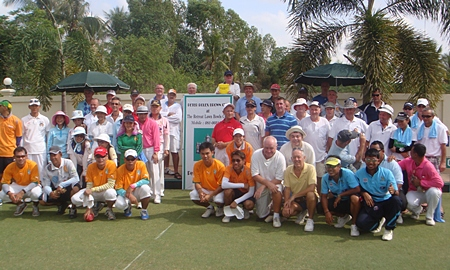 The teams line up on the first day.
