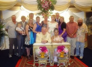 """Family and friends were witnesses as Ian Latham and his bride Sunija Dow promised each other, """"To have and to hold from this day forward, for better or for worse, for richer, for poorer, in sickness and in health, to love and to cherish; from this day forward until death do us part,"""" at a traditional Thai wedding ceremony held at the Montien Hotel, Pattaya recently."""