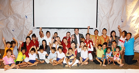 Children from the Young Children Development Centre in Soi Khopai under the care of Sukanya Seaton, chairperson of the Seaton Foundation, were treated to a movie titled 'Happy Feet Two' recently. The outing was sponsored by Michael Delargy, GM of the Sheraton Pattaya Hotel. The kids also enjoyed delicious snacks and drinks hosted by the hotel.