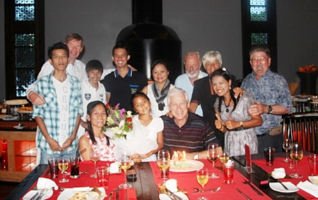 Close friends and family gather around Koos Gaasterland, who celebrated his 70th birthday at Mantra Restaurant recently. Word is he is still actively working in the oil industry.
