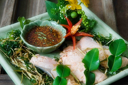 Traditional Thai cuisine at Siam Elephant Bar & Restaurant.