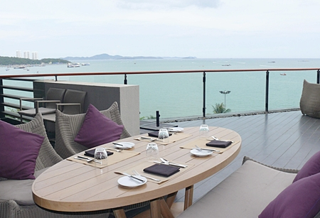 Views across Pattaya Bay.