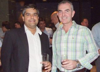 Tony Malhotra, Deputy Managing Director Pattaya Mail Publishing Co., Ltd., chats with Craig Muldoon Senior Consultant PFS international.