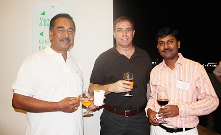 (L to R) Ray D'Silva, general manager at Bosch Chassis Systems (Thailand) Ltd.; Ken Bright, manufacturing and engineering manager of Bosch Chassis Systems (Thailand) Ltd.; and Ramesh Ramanathan, managing director of Visteon (Thailand) Limited.