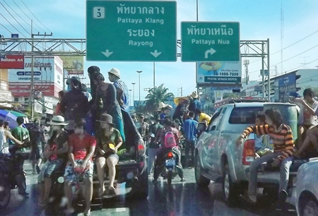 For this one day, it is quicker to walk down Sukhumvit Road than drive.