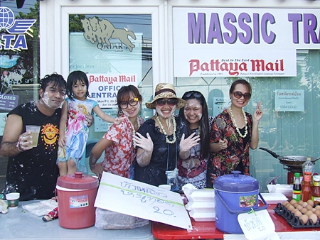 Massic Travel set up a booth to enjoy the revelry.