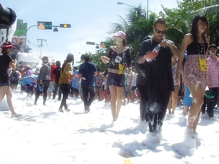 Not foaming at the mouth, but certainly foaming at the feet in the crazy Pattaya heat.