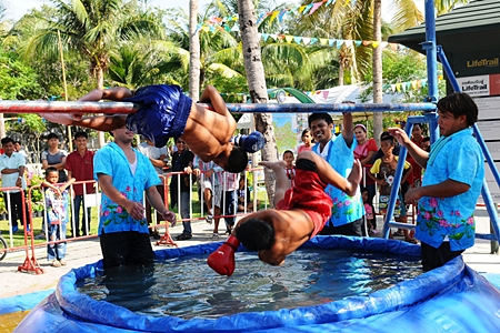 """Sea boxing"" is always a big hit (pun intended) at the Rice Festival."