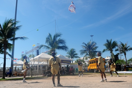 The hoop takraw competition draws the area's top contenders.
