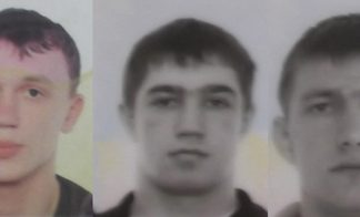 (L to R) Ukrainians Andrii Balaiev, Ievgenii Salogub, and Vitalii Stryhun have been arrested and charged with counterfeiting electronic cards to use in theft.