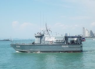 One of the handful of patrol boats participating in the program to provide extra safety during the holidays.