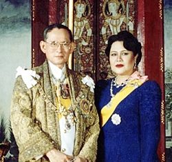 His Majesty King Bhumibol Adulyadej the Great and Her Majesty Queen Sirikit celebrate Their 62nd wedding anniversary on Saturday, April 28. (Photo courtesy of the Bureau of the Royal Household)