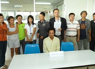 Sithichai Sroimalee (seated) has been charged with molesting a minor and drug use.