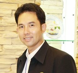 Pattaya Mayor Itthiphol Kunplome is to speak to the British Chamber of Commerce Eastern Seaboard members at the Amari Orchid Pattaya on April 24.