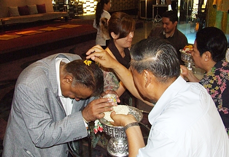 Gen Kanit Permsub gives his blessings to Peter Malhotra.