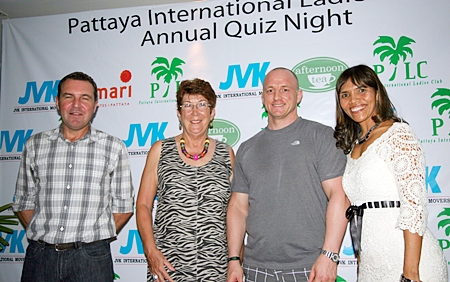 Corporate Sponsor's JVK International Movers' Paul Wilkinson and Craig Somerville with PILC President Ann Winfield and Special Events Chair Ananya Welland.