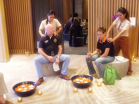 Guests try out the services offered at Eforea spa.